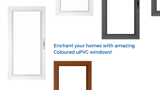 Coloured uPVC Windows from Aparna Venster