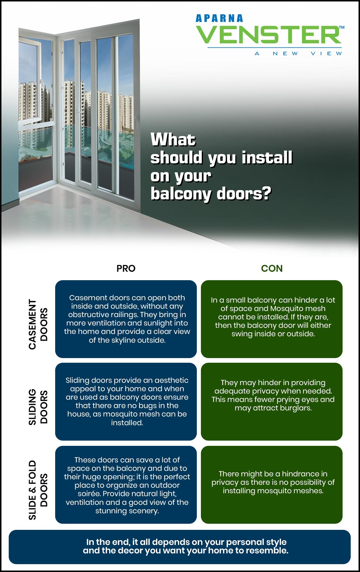 uPVC doors for balcony