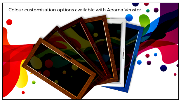 Color customized upvc windows & doors available with Aparna Venster