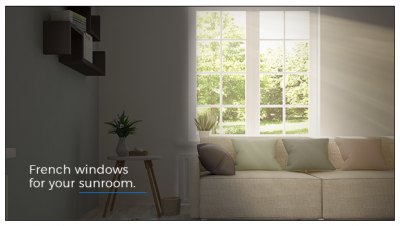 French windows for creating a Sun Room for Your Home