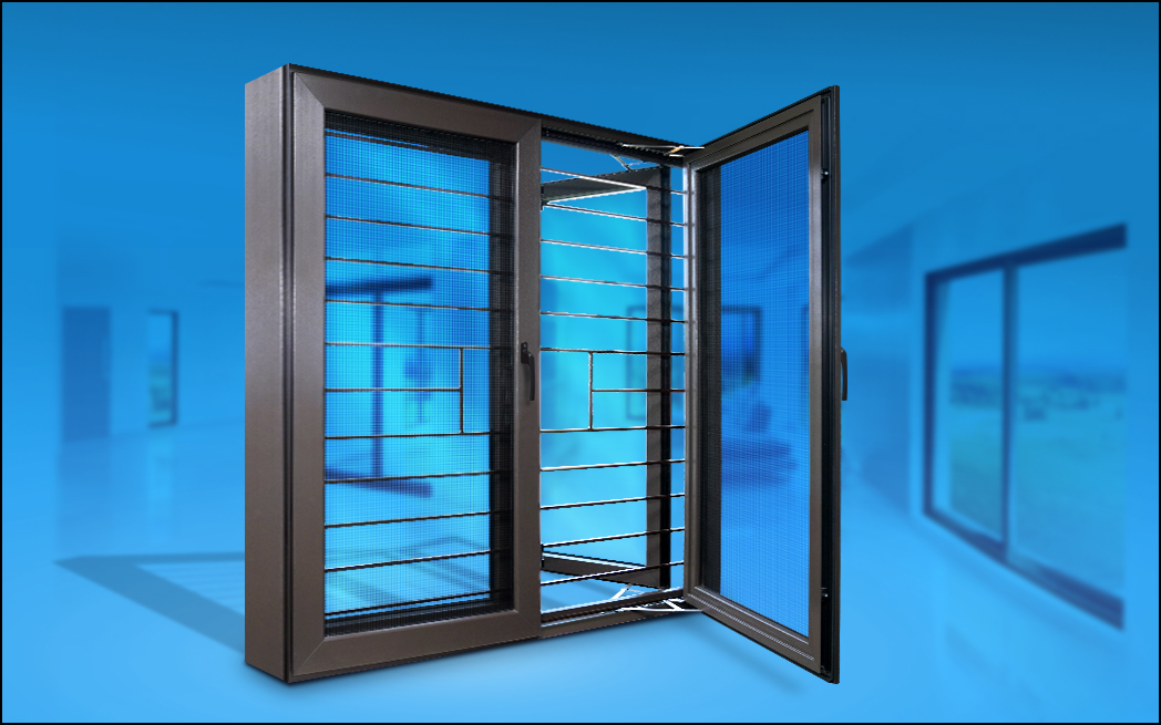Highly secure windows and doors with uPVC